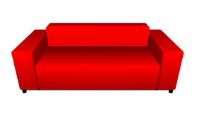 Red sofa Stock Image
