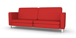 Red sofa. High quality 3D rendered illustration of modern red sofa Stock Images