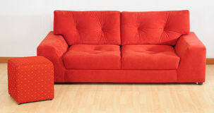 Red sofa. Stock Photography