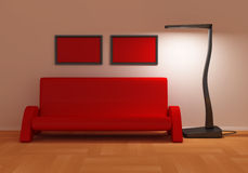 Red Sofa Stock Images