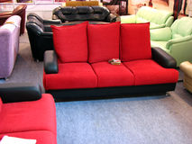 Red Sofa. A beautiful red sofa design Royalty Free Stock Photo