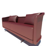 Red Sofa 3D Rendering Stock Image