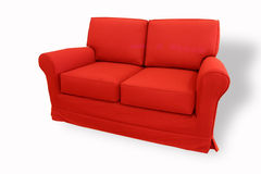 Red sofa. Isolated red sofa on white background Royalty Free Stock Image