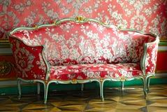 Red sofa Royalty Free Stock Photos