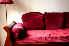 Red sofa Stock Photography
