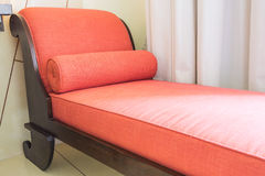 Red sofa bed Royalty Free Stock Images