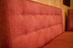 Red Sofa in the cafe Royalty Free Stock Image