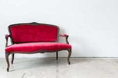 Red sofa Stock Photo