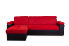 Red sofa Royalty Free Stock Images