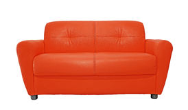 Red sofa furniture isolated on white Royalty Free Stock Photos