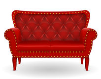 Red sofa furniture vector illustration Royalty Free Stock Images