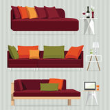 Red Sofa vector illustration