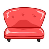 Red sofa isolated illustration Royalty Free Stock Photo