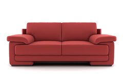 Red sofa isolated on white Stock Photography