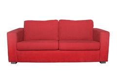 Red sofa isolated Royalty Free Stock Photo