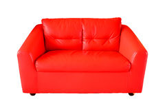 Red Sofa isolated on white background Royalty Free Stock Photography