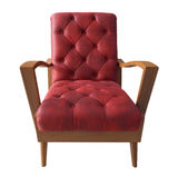 Red sofa isolated white Royalty Free Stock Photo