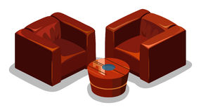 Red Sofa Isometric Vector Stock Photography