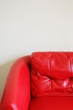 Red sofa. In the living room for sitting and relaxing Stock Photos