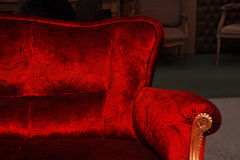 Red sofa. Piece of furniture. Royalty Free Stock Photos