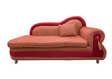 Red sofa. With pillows isolated Stock Image