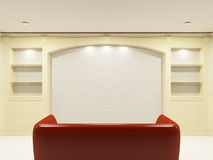 Free Red Sofa With Place On The Wall Royalty Free Stock Photography - 10868837