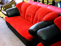 Red Sofas. A beautiful red sofa design in a office waiting room Stock Photography