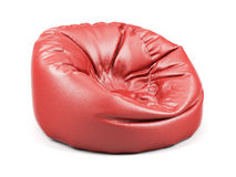 Red soft leather beanbag  Stock Image