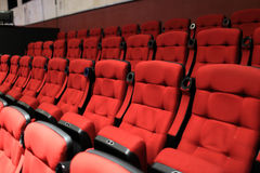 Red soft seats Royalty Free Stock Photos