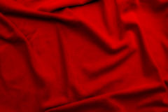 Red soft silk material background or texture Royalty Free Stock Photo