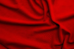 Red soft silk material background or texture Stock Photo