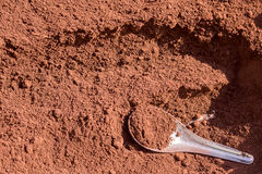 Red soil background. Stock Photography
