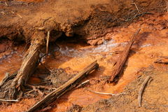 Red soil in Canada Royalty Free Stock Images