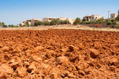 Red soil of Crete Royalty Free Stock Image