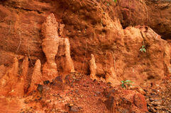 Red soil of gongoni, West Benga, India Stock Photography