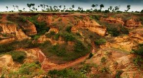 Red soil of gongoni, West Benga, India Royalty Free Stock Image