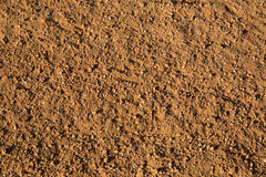 Red soil ground in  baseball practice field Royalty Free Stock Photography