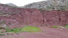 Red soil. In the mountains of Crete Royalty Free Stock Photo