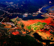 Red soil of Yunnan Province. Yunnan province is loacated in South-western China, where the soil is red. and terrace can be seen in many places.the picture is Stock Photo