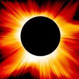 Red solar eclipse vector illustration
