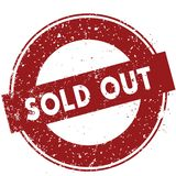Red SOLD OUT rubber stamp illustration on white background. Image Royalty Free Stock Images