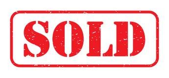 Red sold stamp logo Royalty Free Stock Image