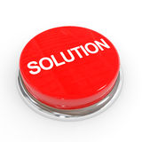 Red solution button. Royalty Free Stock Photography