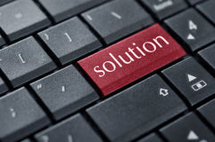 Red solution button Stock Image