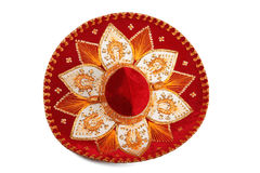 Red sombrero isolated Royalty Free Stock Photo