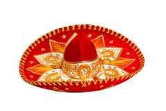 Red sombrero isolated Stock Photo