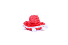 Red sombrero Stock Images