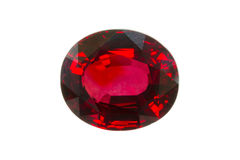 Red Songea Sapphire Stock Photography