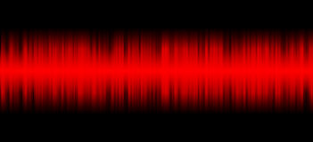 Red sound on black background Royalty Free Stock Image