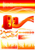 Red_sound_elements Stock Image